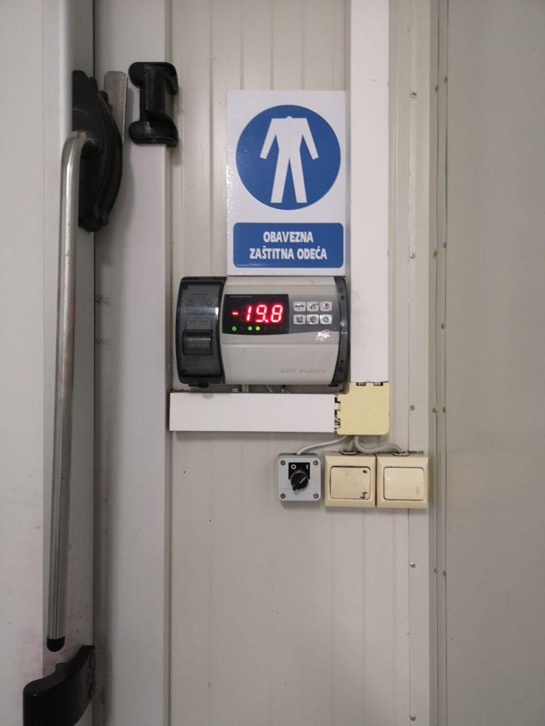 Kontrola temperature u rashladnoj komori